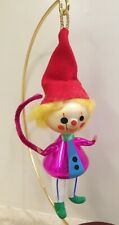 Vintage Italian Blown Glass Painted Christmas Ornament Clown...De Carlini?