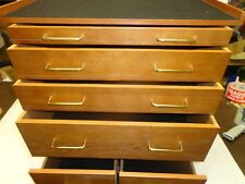 OAK TOOL/COLLECTION ROLLING BASE CABINET 6 DRAWERS #20609
