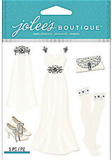 JOLEE'S BOUTIQUE DIMENSIONAL STICKERS ~WEDDING DRESS