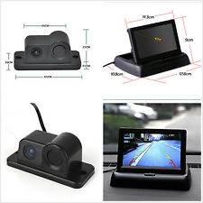 "Car Reverse Parking Camera With Radar Sensor&4.3"" Foldable LCD Rear View Monitor"