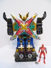 "Power Rangers Ninja Storm Hurricane Command 14"" Megazord w/ Red Ranger Figure !!"