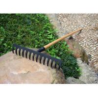 42cm Steel Fan Rake Head Replacement for Garden Patio Leaves Leaf Lawn 14T
