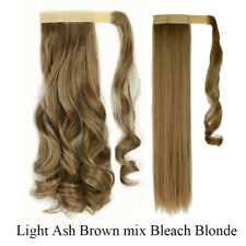 Real Natural Long Wrap On Ponytail Clip In Hair Extensions Extension Brown Red