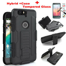 Armor Heavy Duty Rugged Hybrid Case Belt Clip Stand Cover For Google Pixel 2 XL