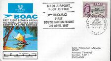 AVIATION :1967 B.O.A.C. First South Pacific Flight -Fiji-London