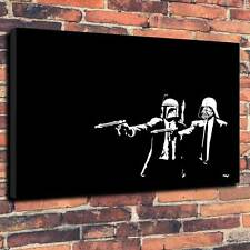 "POP ART Banksy Stile Pulp Fiction Star Wars Stampa A1.30 ""X20"" Deep 30MM TELAIO"