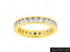 Band Ring 14k Yellow Gold F Vs2 1Ct Round Diamond Classic Channel Set Eternity