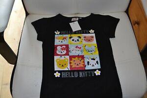 tee shirt neuf hello kitty 8 ans noir fait craquele le modele veux cela***
