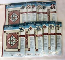 New JoAnn Quilt Blocks of the Month Vintage Treasures 2003 #1-12, Precut Fabric