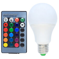 5W RGB LED Lampen E27 Dimmbar Farbige Leuchtmittel LED Birnen mit Fernbedienung