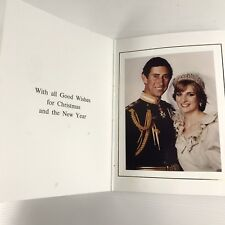 Official 1981 Prince Charles Of Wales And Lady Diana Christmas Card Genuine