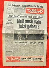 DER ABEND (8.5.1974): Fall Guillaume - ein Bumerang für die DDR