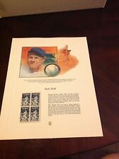 Babe Ruth Print and set of 4 stamps Dennis Lyall's portrait