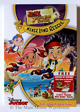 Jake and The Neverland Pirates Never Land Rescue Full Adventure DVD No Slipcover