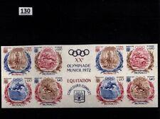 // 2X MONACO 1972 - MNH - IMPERF - OLYMPICS, HORSE, GERMANY