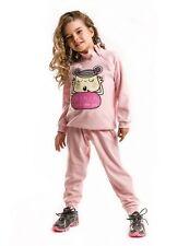 MUSHI Fall  Lalala Pink Velvet Tracksuit - Infant Toddler & Girls