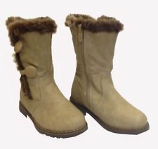New Girls Kids Children Infants Warm Winter Ankle Boots Snow Boot Shoes Zip Size