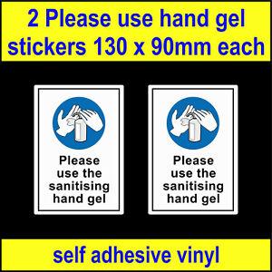 2 Use hand gel, Wash Hands sign, Safety food hygiene decals toilet sink Stickers