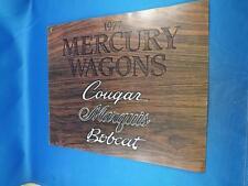 1977 MERCURY WAGONS SALES BROCHURE COUGAR MARQUIS BOBCAT OPTIONS COMBINATIONS