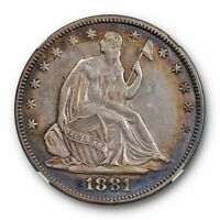 1881 Seated Liberty Half Dollar NGC AU 53 About Uncirculated Toned