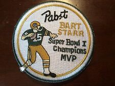 Limited Offer . Super Bowl I  Patch Bart Starr  Beer 50Year Commerative Edition