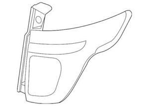 Genuine Ford 13-15 Police Interceptor Utility Tail Lamp Assembly DB5Z-13405-B