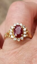 Absolutely Stunning Ruby and Diamond ring on 18ct Gold. Size N+