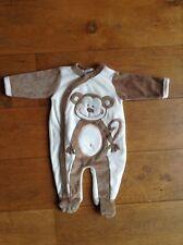 "pyjama en velours bebe ""PETIT KIMBALOO"" taille 0-1 mois neuf"
