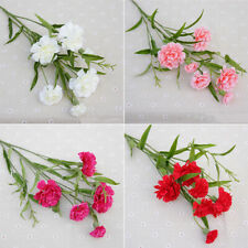 Artificial Carnations Silk Flowers Bouquets Fake Floral Party Wedding Decoration