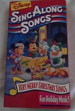 Disney Sing Along Songs VHS Very Merry Christmas Mickey Minnie Donald Daisy