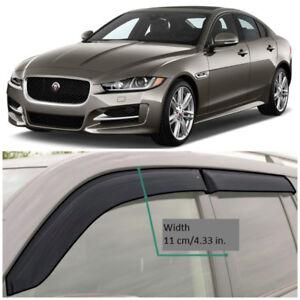 JE20415 Window Visors Sun Guard Vent Wide Deflectors For Jaguar XE Sd 2015-