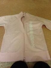 "Ladies baby pink zip up sweatshirt. size S .. "" prodance "" down front ."