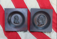 RARE Set Franklin Peale Electrotype Copper Busts Benjamin Franklin and Napoleon