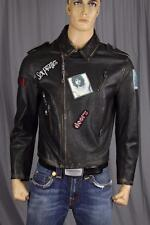 Authentic Plus + Sex Pistols Men's 100% Leather Jacket US L IT 52 Made in Italy