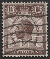 SG436 PUC 1 1/2d. Purple-brown. 1829 for 1929 variety, used. E1420