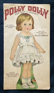 Antique Polly Dolly Paper Doll and Story Book, Stecher Litho Co., 1915, Uncut