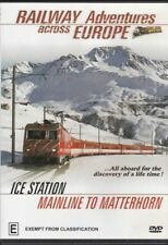 Railway Adventures Across Europe Ice Station Mainline to Matterhorn DVD VG