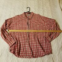 Cowboy Up Men's Button Down Western Long Sleeve Shirt XL Red White Black Plaid