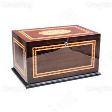 Romeo Y Juliet Top Cedar Wood Cigar Humidor With 3 Drawer Hygrometer Humidifier