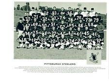 1962  PITTSBURGH STEELERS 8X10 TEAM PHOTO  LAYNE NFL FOOTBALL USA