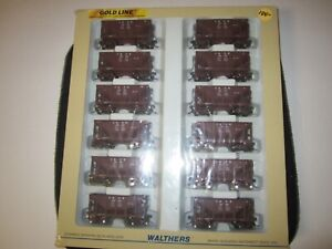 12 pack Walthers Goldline Michigan Ore Cars NIB 932-40501 HO Scale C&NW