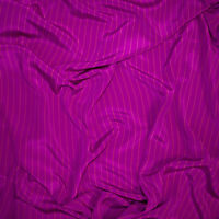 Italian pure mulberry silk crepe georgette fabric Made in Italy. Striped. Defect