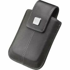 GENUINE BlackBerry SWIVEL HOLSTER BOLD 9500 9530 STORM HDW-18969 BLACK LEATHER