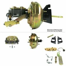 """1973-87 Chevy Truck F.Wall Mount Power 11"""" Dual Brake Booster Kit LS Disc/Drum"""
