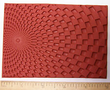 Unmounted Rubber Stamp Optical Deep Etch Molding Mat for Polymer PMC Paper Clay