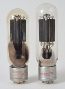 Beautiful Matched Pair of RCA Licensed 845 Power Tubes