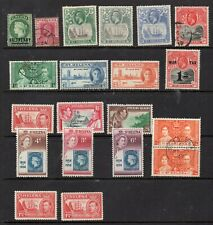 ST HELENA STAMPS SELECTION MOUNTED MINT USED AND MINT NEVER HINGED
