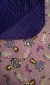 New Handmade Sofia The First Minky & Flannel Blanket Throw