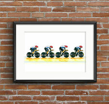 Team GB Men's Cycling Pursuit Team, London 2012 Olympics POSTER PRINT A1 size