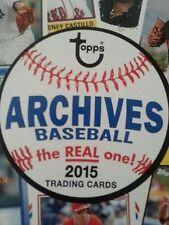 2015 Topps Archives Baseball &  10 Card U-Pick